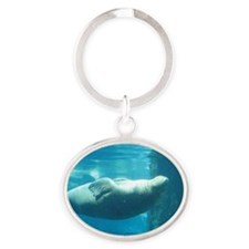 Walrus Underwater Oval Keychain