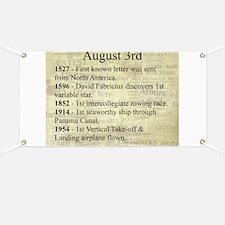 August 3rd Banner