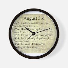 August 3rd Wall Clock