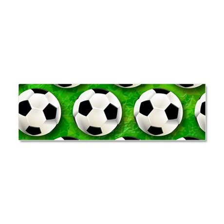 Soccer Ball Football Pattern Car Magnet 10 x 3