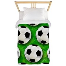 Soccer Ball Football Pattern Twin Duvet