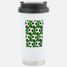 Soccer Ball Football Pattern Travel Mug