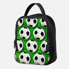 Soccer Ball Football Pattern Neoprene Lunch Bag