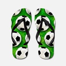 Soccer Ball Football Pattern Flip Flops