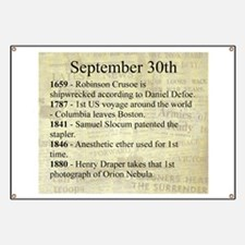 September 30th Banner