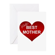 WORLD'S BEST MOTHER Greeting Cards (Pk of 10)