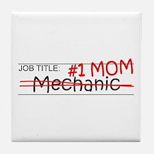 Job Mom Mechanic Tile Coaster