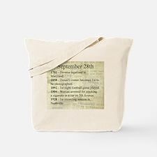 September 28th Tote Bag
