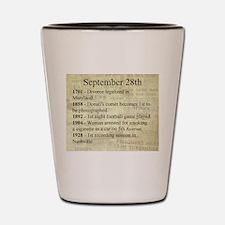 September 28th Shot Glass