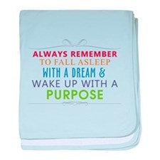 Wake Up With a Purpose baby blanket