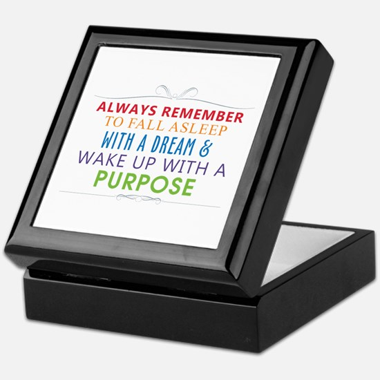 Wake Up With a Purpose Keepsake Box