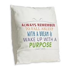 Wake Up With a Purpose Burlap Throw Pillow