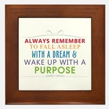 Wake Up With a Purpose Framed Tile