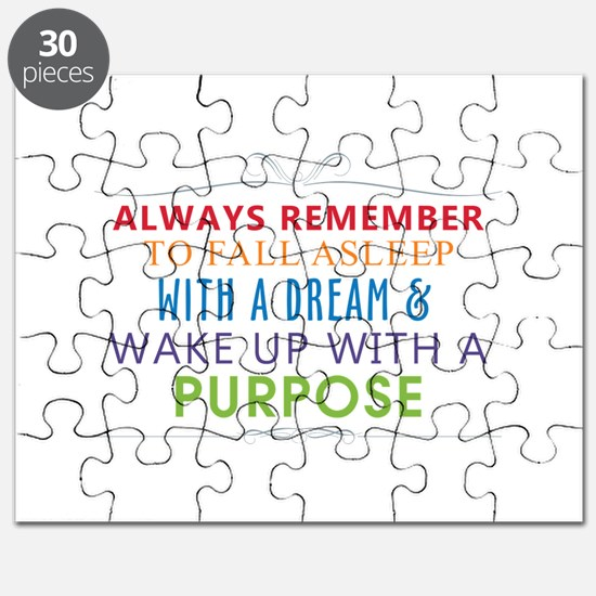Wake Up With a Purpose Puzzle