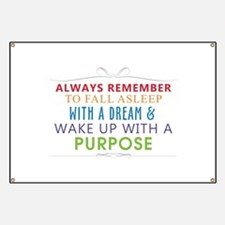 Wake Up With a Purpose Banner