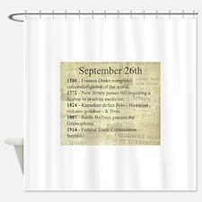 September 26th Shower Curtain