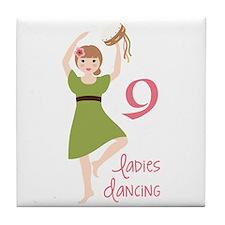 9 laDies daNciNG Tile Coaster