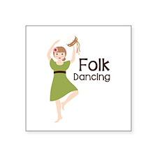Folk Dancing Sticker
