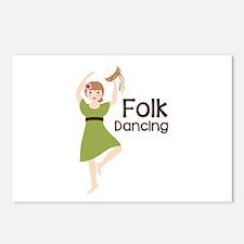 Folk Dancing Postcards (Package of 8)