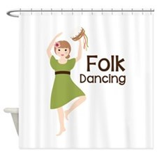 Folk Dancing Shower Curtain