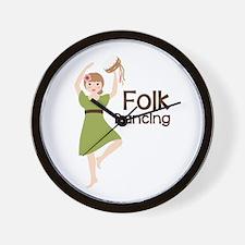 Folk Dancing Wall Clock