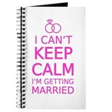 Keep calm getting married Journals & Spiral Notebooks