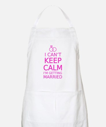 I cant keep calm, Im getting married Apron