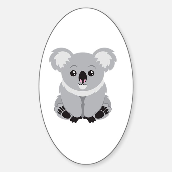 Cute Koala Bear  Sticker (Oval)