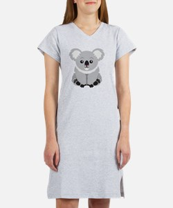 Cute Koala Bear  Women's Nightshirt