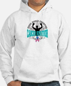 Thyroid Cancer Tough Survivor Hoodie