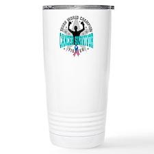 Thyroid Cancer Tough Su Travel Coffee Mug