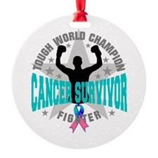 Thyroid Cancer Tough Survivor Ornament