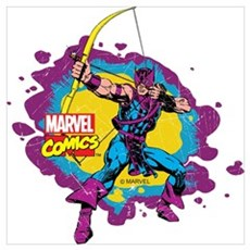 Hawkeye Splatter Wall Art Canvas Art
