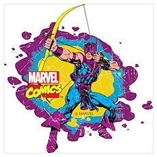 Hawkeye Splatter Wall Art Poster