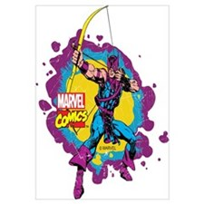 Hawkeye Splatter Wall Art