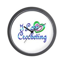 I Love Crocheting Wall Clock