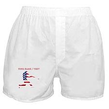 Custom Baseball Batter American Flag Boxer Shorts