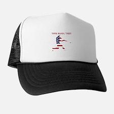 Custom Baseball Batter American Flag Trucker Hat