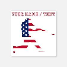 Custom Baseball Batter American Flag Sticker