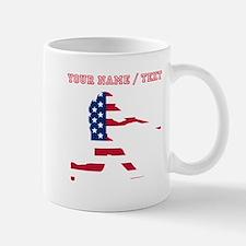 Custom Baseball Batter American Flag Mugs