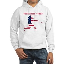 Custom Baseball Batter American Flag Hoodie