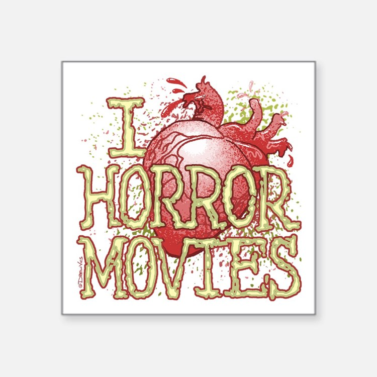 I Heart Horror Movies Sticker