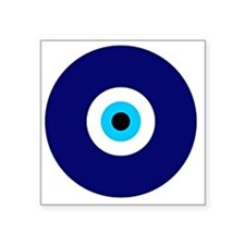 "Evil Eye Charm  Square Sticker 3"" x 3"""