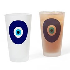 Evil Eye Charm  Drinking Glass