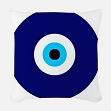 Evil Eye Charm  Woven Throw Pillow