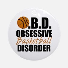 Funny Basketball Ornament (Round)