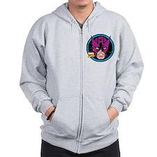 Hawkeye Face Zip Hoodie