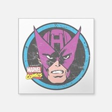 "Hawkeye Face Square Sticker 3"" x 3"""