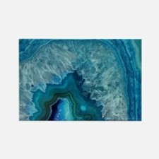 Blue agate Rectangle Magnet