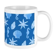 Blue Seashells Mug